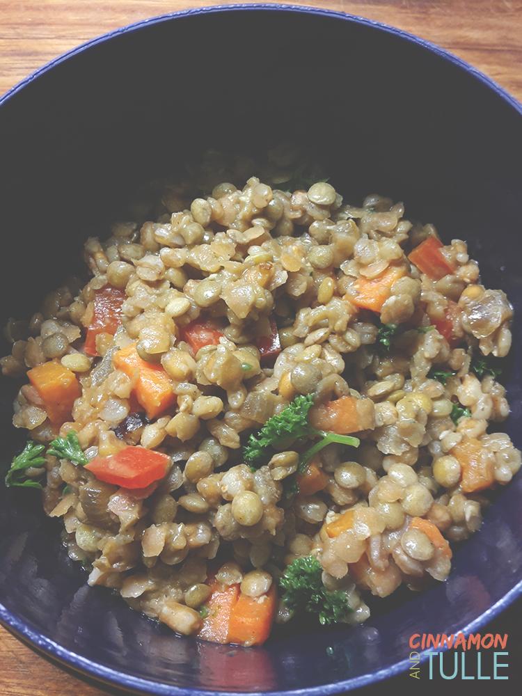 Warm Carrot, Pepper, Paprika and Lentil Salad